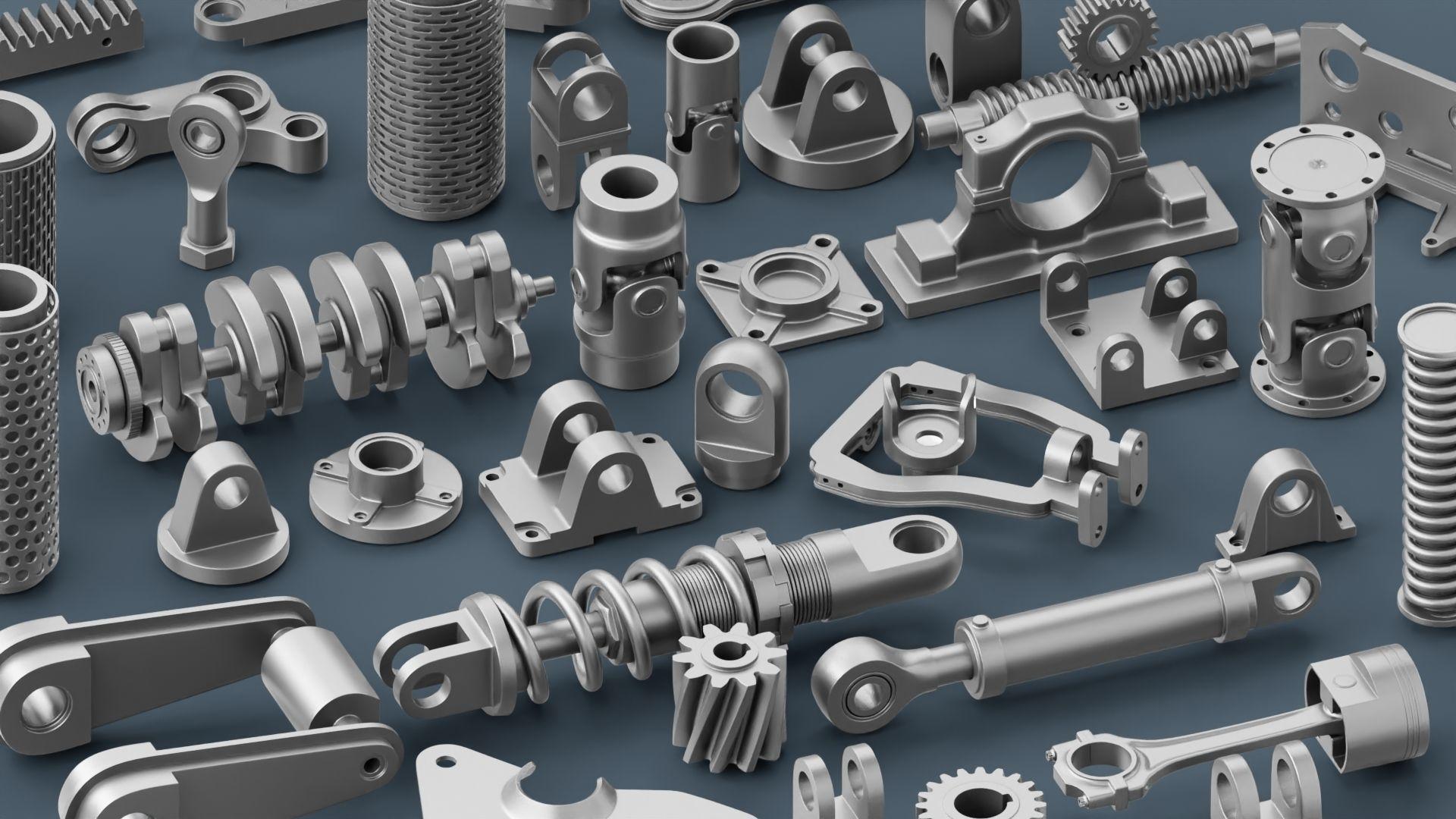 Hard Surface Mechanical Kitbash Volume 1