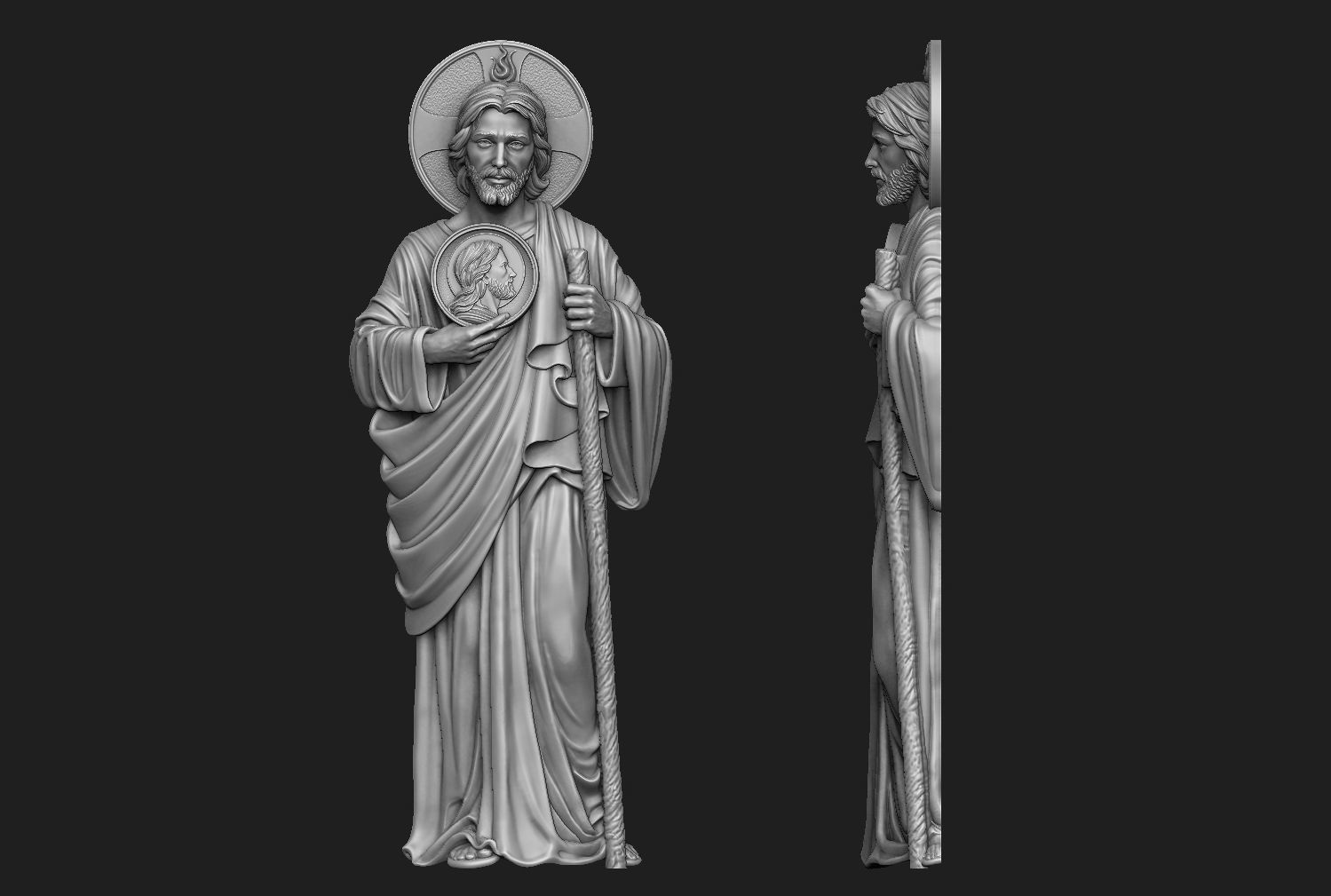 Saint Jude Full Figure Relief