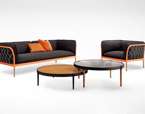 3D model Tait Trace sofa and armchair