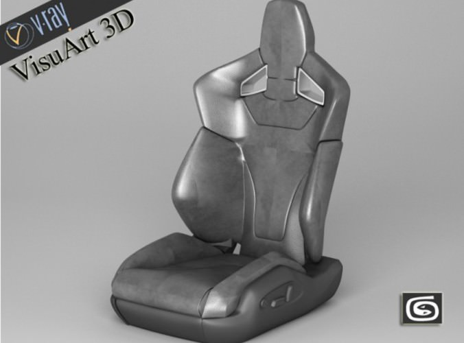 car seat audi tt rs sport 3d model max obj mtl 3ds fbx 1
