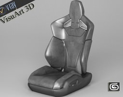 Car Seat Audi TT RS Sport 3D Model