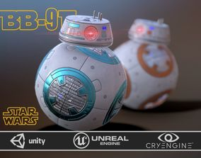 BB-9 E rebels two skins 3D asset