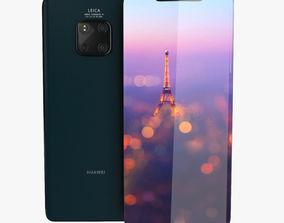 Huawei Mate 20 Pro Green Low Poly 3D asset