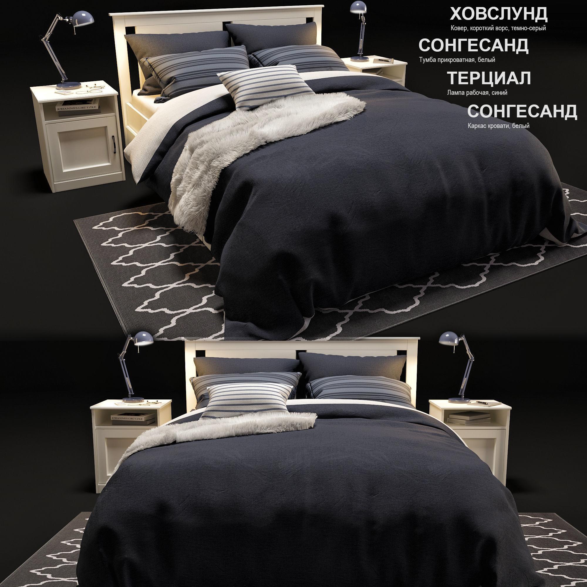 timeless design 10138 d4d97 bed IKEA songesand | 3D model