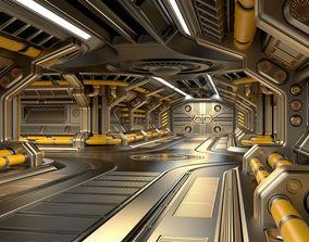3D Sci Fi Modular Corridor ADVANCED EDITION