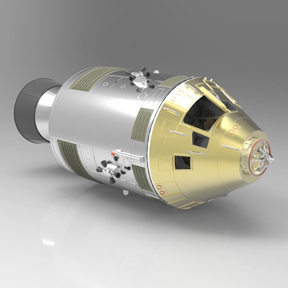 Apollo Spacecraft Studio Max 3D Model .max - CGTrader.com