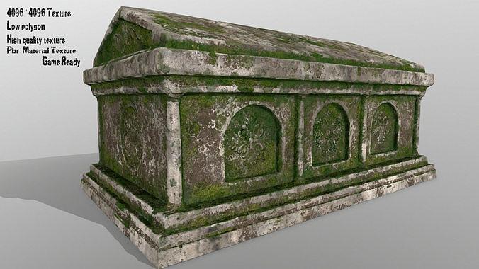 tomb  1 3d model low-poly obj mtl fbx blend 1