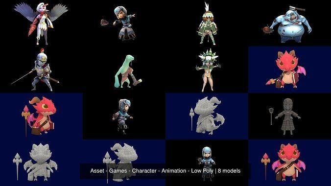 asset - games - character - animation - low poly 3d model max obj mtl fbx ma mb hrc xsi tga 1