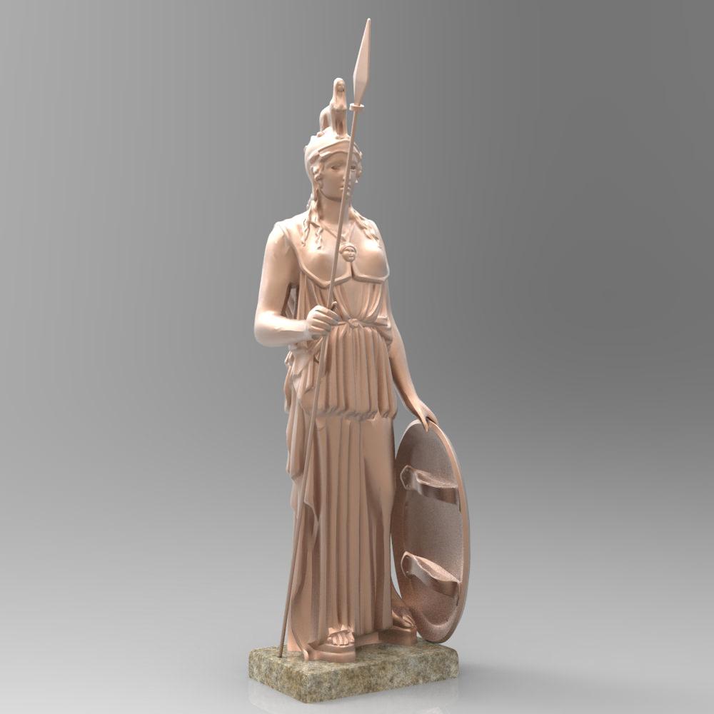 Athena Statue 3d Model Max Cgtrader Com