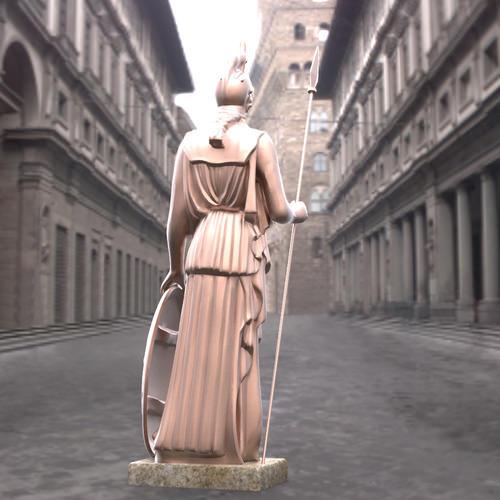 Athena Statue 3D Model .max