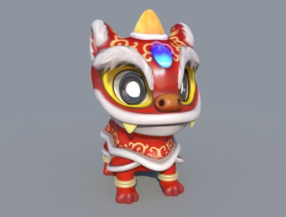 Dancing Chinese dragon   3D model