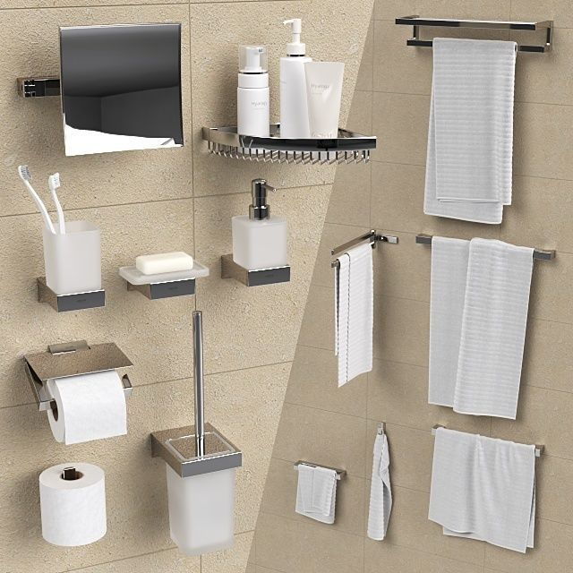 Bathroom Accessories Grohe Selection Cube 3d Cgtrader