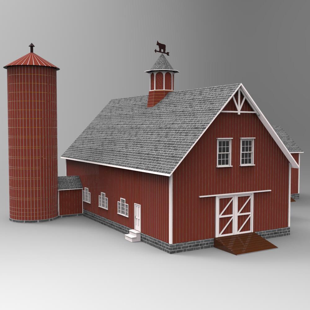 Barn for 3d studio max 3d model max for 3d studio max models