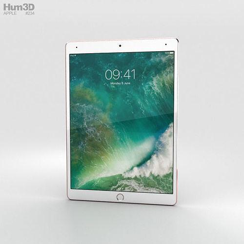 apple ipad pro 10-5-inch 2017 cellular rose gold 3d model max obj mtl 3ds fbx c4d lwo lw lws 1