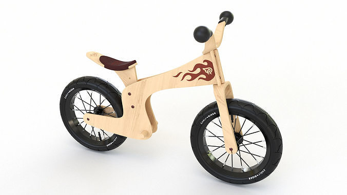 early rider bicycle 3d model obj mtl 3ds fbx 3dm 1