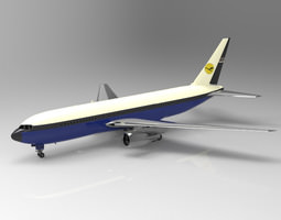 3d model commercial passenger aircraft boeing 767