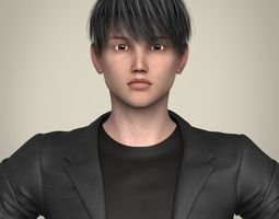 Realistic Young Handsome Boy realistic 3D model