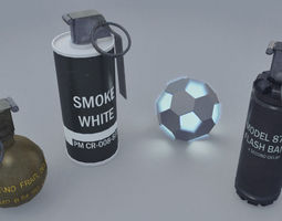 3D asset Realistic Grenades Pack