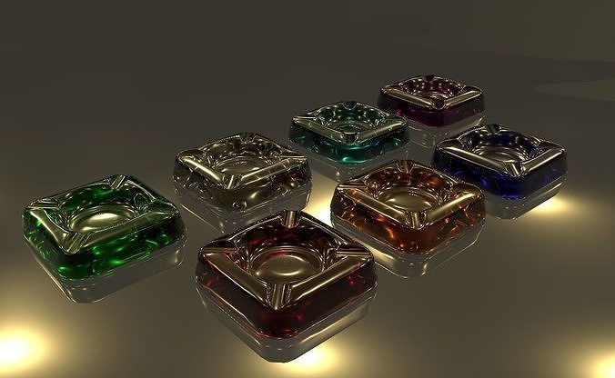 ashtray 3d model obj mtl 3ds fbx c4d stl dae 1