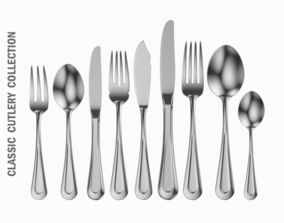 3D model Classic Cutlery Set 9 Pieces