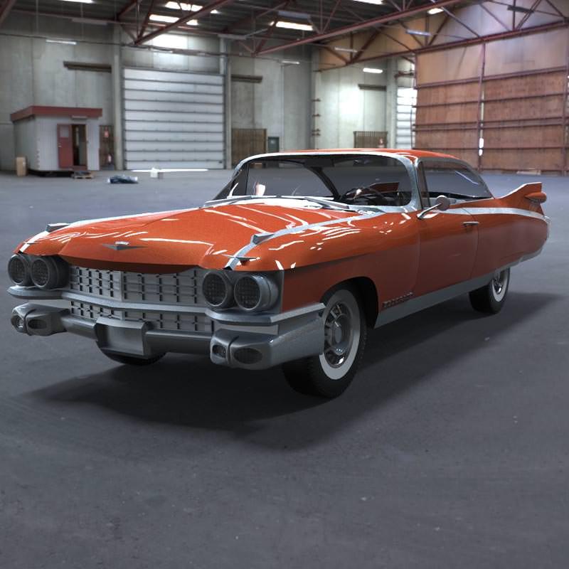 3d Model 1959 Cadillac Cgtrader