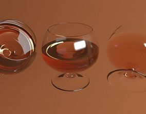 brandy drink glass 3D model