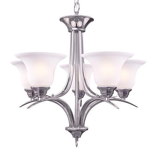 volume lighting trinidad 5-light brushed nickel chandelier 3d model max obj mtl 1