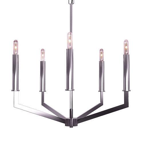 filament design 5 -light brushed nickel chandelier 3d model max obj mtl 1