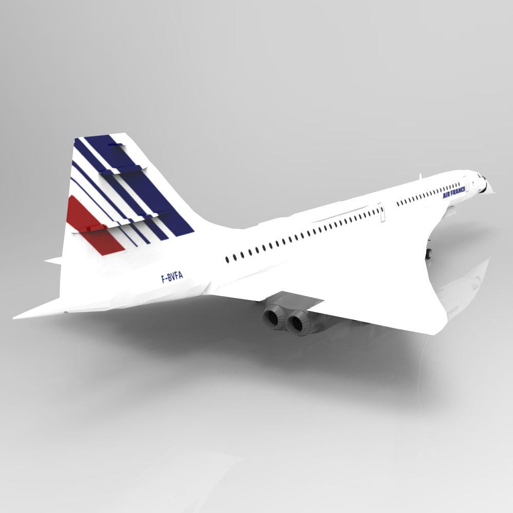 Concorde studio max 3d model max for 3d studio max models