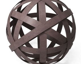 THREE HANDS Metal Orb in Brown 11 and 75 in 3D model