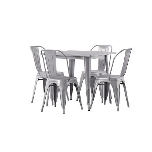 Betsey 5 Piece Dining Set 3d Model Cgtrader