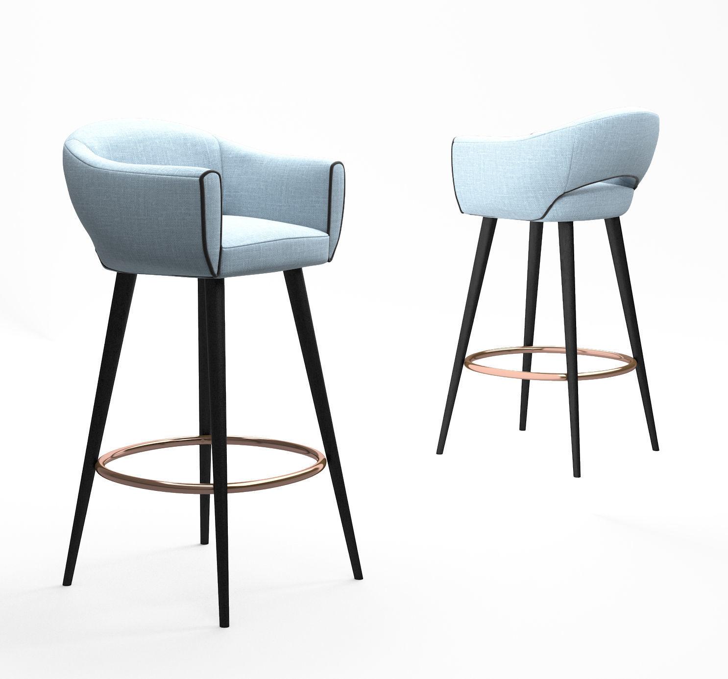 Outstanding Mambo Unlimited Ideas Grace Bar Chair 3D Model Machost Co Dining Chair Design Ideas Machostcouk