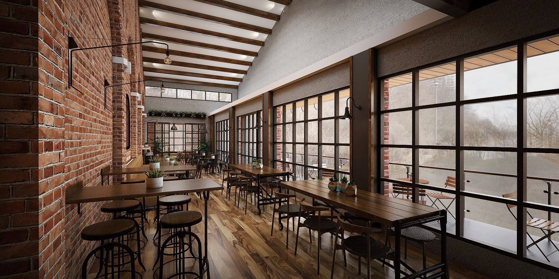 3d Industrial Restaurant Cgtrader