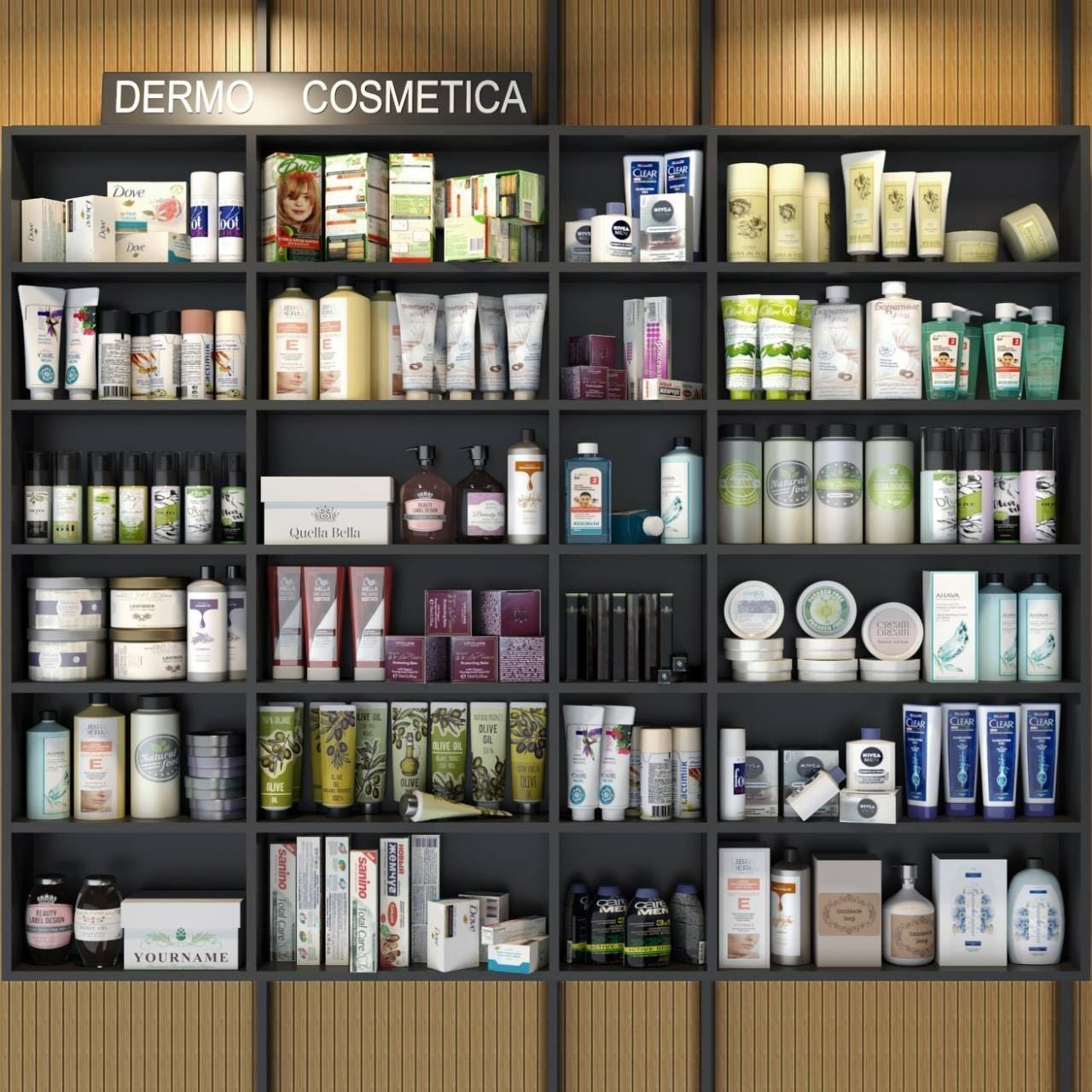 Showcase with cosmetics 2
