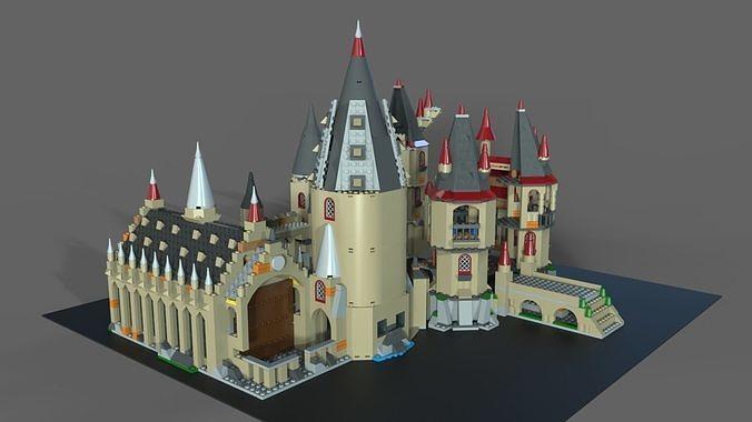 lego school of magic 3d model obj mtl fbx c4d 1
