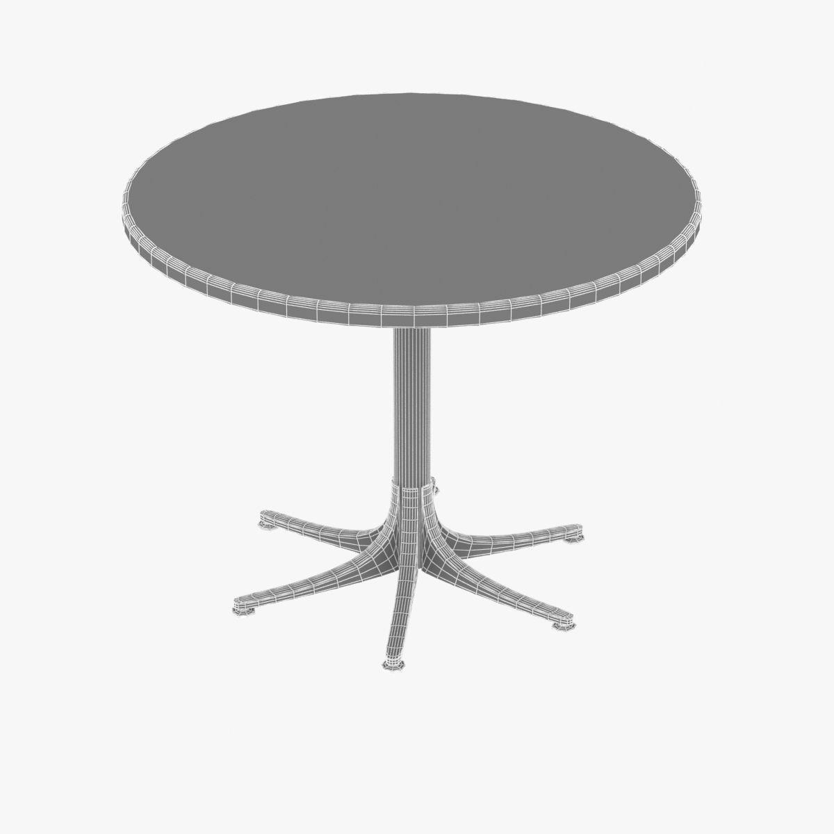 ... Dwr Inox Table Large Round 3d Model Max Obj 3ds Fbx Mtl 7 ...