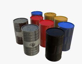 3D asset Realistic Gallon Set for Games PBR