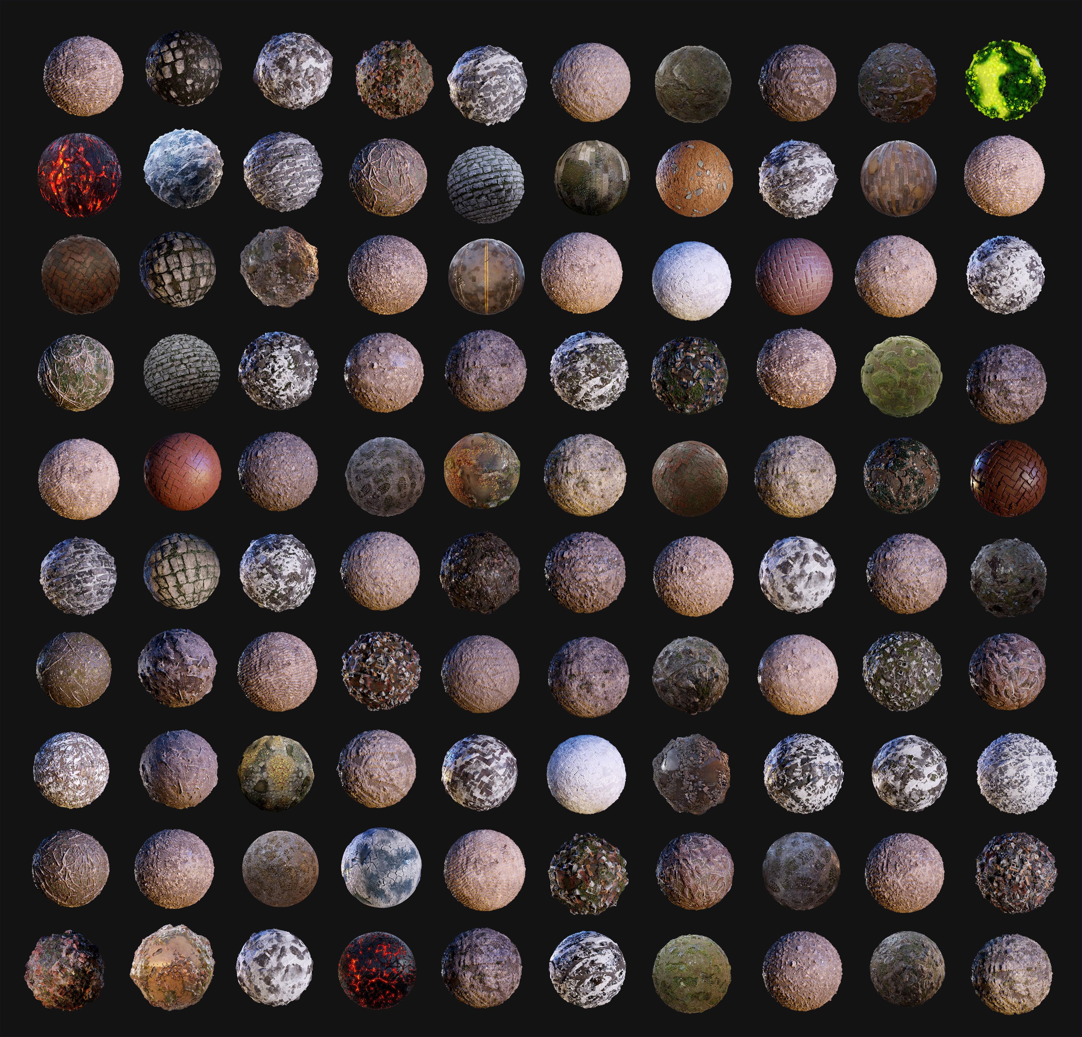 100 Ground Terrain Seamless PBR Textures