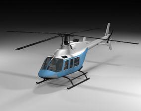 3D model Bell 407 Lowpoly