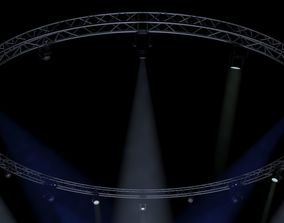 3D model Circle Square Truss1000cm-Stage Lights
