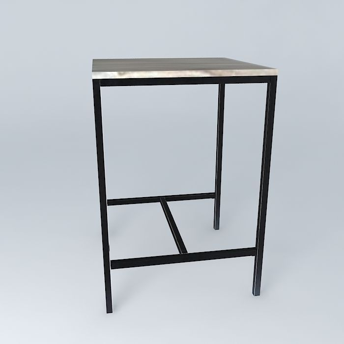 High Square Dining Table Long Island Maiso 3d Model