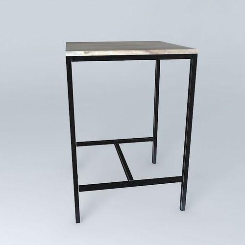 3d Models Table Maisons Du Monde Long Island Table