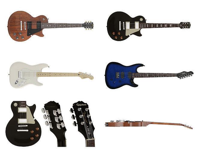 guitars 3d model max obj mtl tga 1