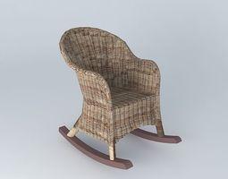 rocking chair freud houses the world 3d model max obj 3ds fbx stl dae. Black Bedroom Furniture Sets. Home Design Ideas