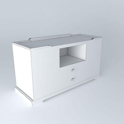 tv cabinet key largo maisons du monde 3d model max obj 3ds fbx stl dae. Black Bedroom Furniture Sets. Home Design Ideas