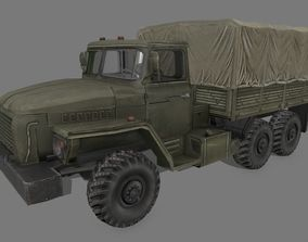 3D model VR / AR ready Ural 4320