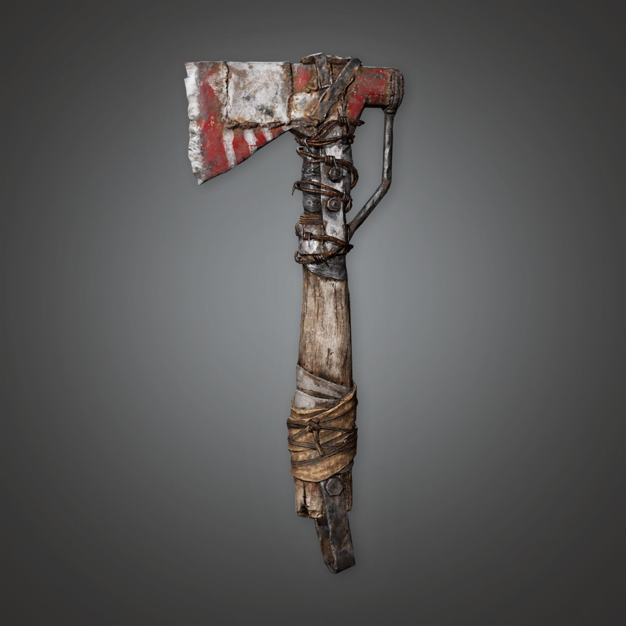 PAM - Post Apoc Axe 01 - PBR Game Ready