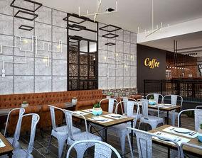 wall 3D Coffee Shop