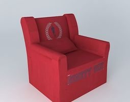 3d children s armchair red cottage houses the world