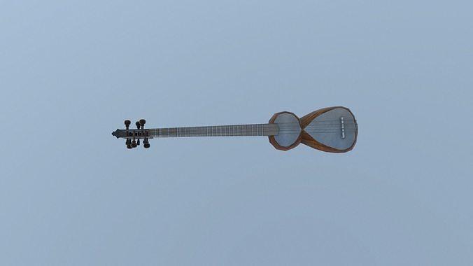 tar musical instrument 3d model low-poly fbx tga tbscene tbmat 1